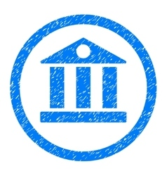Bank Rounded Icon Rubber Stamp vector