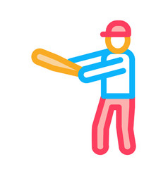 baseball gamer icon outline vector image