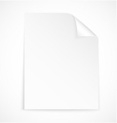 Blank letter paper icon vector image