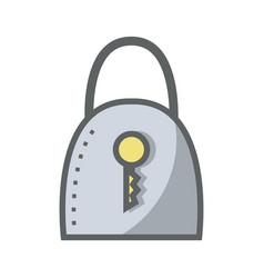 blue padlock security tool service vector image