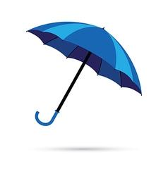 Blue umbrella vector