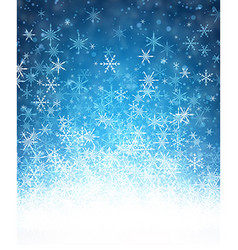 Blue winter background with snowflakes vector