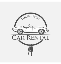 car rental logo vector image