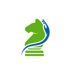 Care chess logo design creative chess logo vector