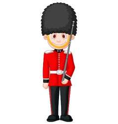 Cartoon a British Royal Guard vector image