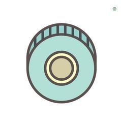 centrifugal pump impeller icon vector image