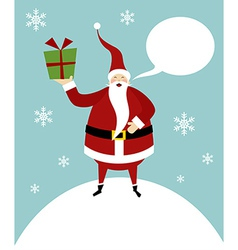 Christmas serie Happy Santa Claus on a snow vector image