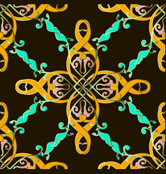 colorful ethnic style seamless pattern vintag vector image
