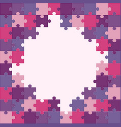 colorful puzzle background vector image