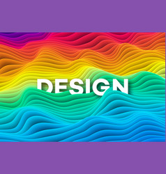 colourful rainbow curve background vector image