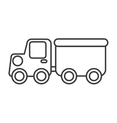 Construction car toy kids icon vector