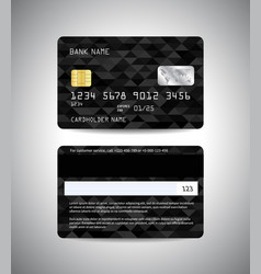 credit cards set with black background vector image vector image