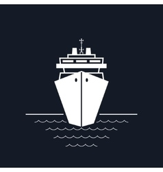 Cruise Ship Isolated on Black vector image