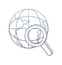 degraded outline global digital data network vector image