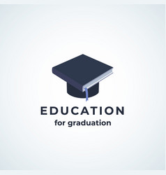 education for graduation absrtract sign vector image