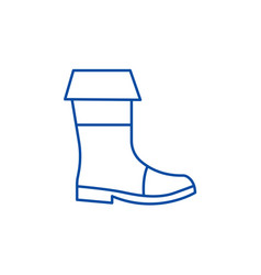 fishing boots line icon concept fishing boots vector image