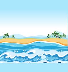 Flat empty beach background vector