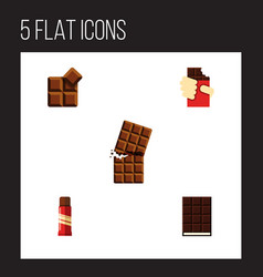 Flat icon cacao set of wrapper cocoa shaped box vector