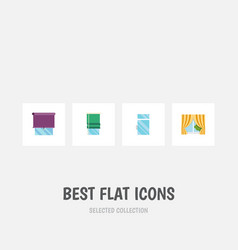 flat icon window set of clean glass frame vector image