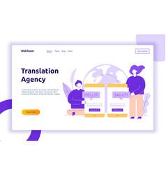 flat line translation design concept vector image