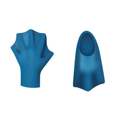 Flippers and gloves for swimming vector
