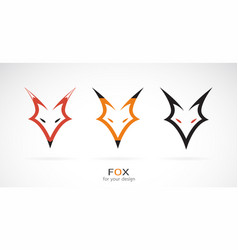 Fox head design on a white background wild vector