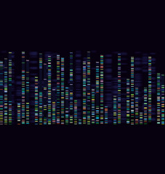 Genomic analysis visualization dna genomes vector