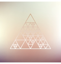Hipster triangle linear background vector image