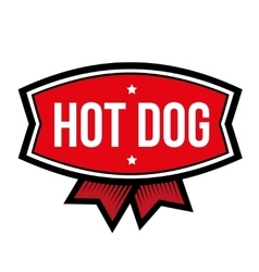 Hot dog vintage logo vector