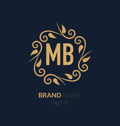 Initial letter mb creative elegant logo template vector