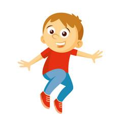 jump boy vector image