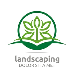 Leaves landscaping ecology design vector