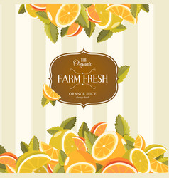 lemon and lime lemonade background vector image