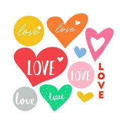 Love heart doodle vector