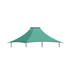 mint tent icon flat style vector image