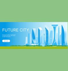 modern futuristic cityscape 01 vector image