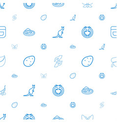 Natural icons pattern seamless white background vector