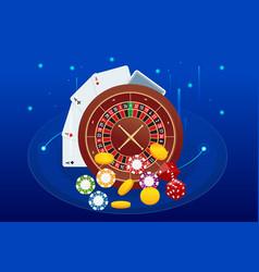 online casino concept online big slots casino vector image
