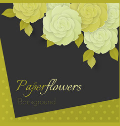 paper flower realistic of white and vector image
