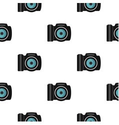 Photocamera pattern flat vector