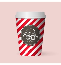 Quality realistic isolated paper coffee cup vector
