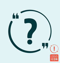 quote bubble with question and exclamation sign vector image