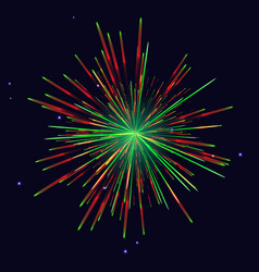 red green fireworks new year background vector image