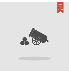 Retro cannon Flat design style vector