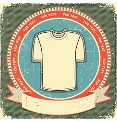 retro t-shirt label vector image