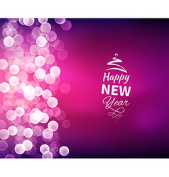 Romantic Happy New Year Background vector image