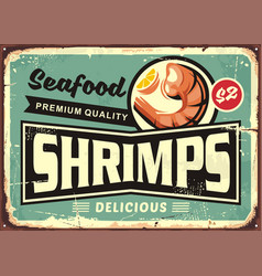 Seafood restaurant menu sign design with delicious vector