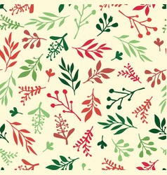 Seamless holiday background abstract leaves vector