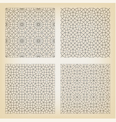 seamless islamic backgrounds vector image