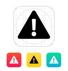 Security warning icon vector image